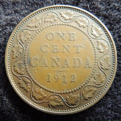 CANADA      1912     Large Cent        Very  Fine         CHRISTMAS  GIFT  ??