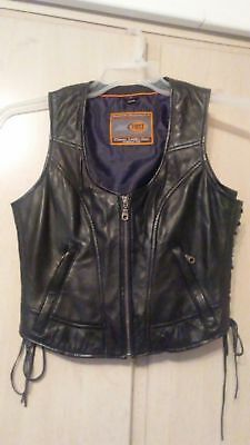 Black Leather Vest First Classics Size M