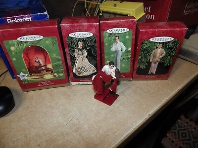 Lot Of 5 Vintage Christmas Ornaments Hallmark Gone With The Wind Euc!!!