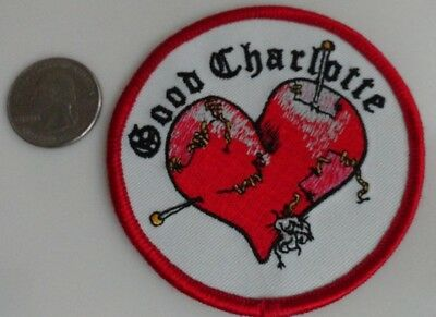 Good Charlotte Heart Logo Embroidered Iron On Patch (Rock Band, Music) New Rare