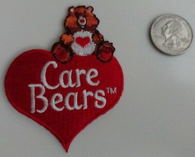 Care Bears Heart Logo Adorable 80's 80s Cartoon Embroidered Iron On Patch - New