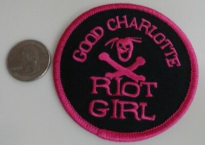 Good Charlotte Riot Girl Embroidered Iron On Patch (Rock Band, Music) New - Rare