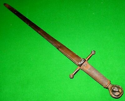 Antique Medieval Iron Dagger - Europe 16Th Century Ad - Rare Dague Renaissance