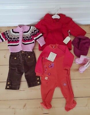 BRAND NEW - BULK Girls newborn-6mths clothing including jacket, booties and cap
