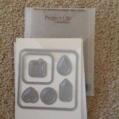 Stampin Up Project Life Paper Clips Thinlits Dies
