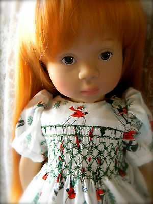 Smocked Dress for a Natterer by Gotz & a Kidz n Cats Doll.........by lkb
