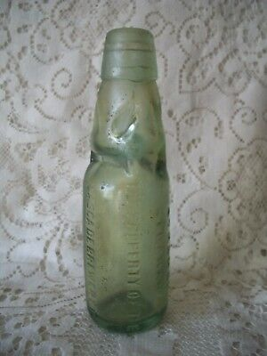 Antique Glass Codd Marble Bottle Hobart Strahan Cascade Brewery