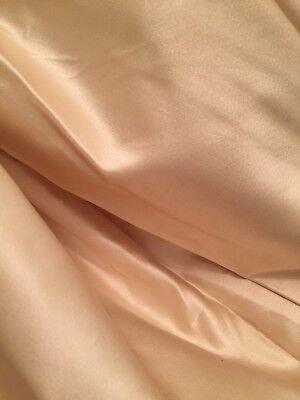"""Vintage 1950 Fabric Pure Thick Silk Satin French Couture Old Stock 2 Yard X 50"""""""