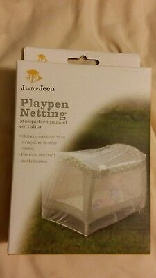 Jeep Baby Playpen Netting, Universal Size, White, Pack N Play Mosquito Net, J1