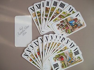 "Rare Unusual Piatnik ""tarot Size"" Deck Of Playing Cards (Ex)"