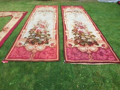 A Pair Of 19th C. Aubusson Hangings, France Circa 1880