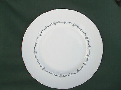 Royal Worcester SILVER CHANTILLY. Dinner Plate.  Diameter 10 3/4  inches