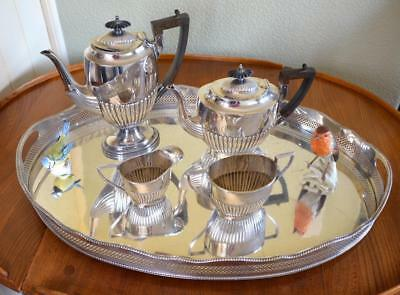 A1 Quality Walker & Hall Silver Plated Tea Coffee Set With Tray