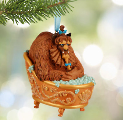 BNWT Disney Store Beauty and the Beast Bath tub Sketchbook hanging ornament.