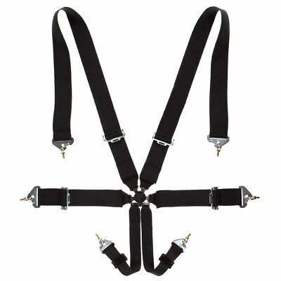 Noryb 6 Point Black Fully Adjustable Racing Universal Harness Seat Belt Car 4x4