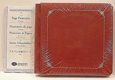 Creative Memories Red Original 7 X 7 Album / Coverset Bnip + Pages &  Protectors