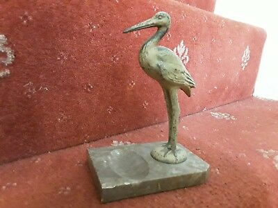 cold painted spelter stork