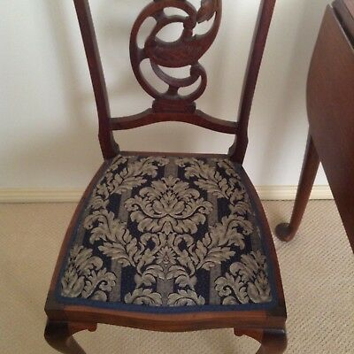 Antique Dining Table Extendable With 4 Chairs