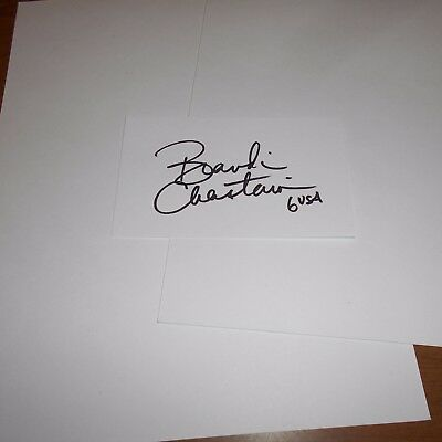 Brandi Chastain is an American retired soccer player Hand Signed Index Card