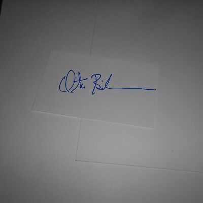 Otis Birdsong is an American former pro basketball player Hand Signed Index Card