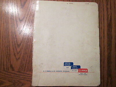 Vintage Clipper Seed & Grain Cleaner Service Manual & Parts Catalog