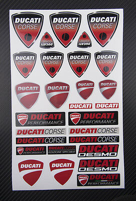 Ducati Corse Aufkleber 28 stickers Monster 1100 1200 Panigale 1199 1299 Diavel
