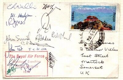 MS2999 1974 NEPAL Mountaineering *RAF Expedition* SIGNED Mount Everest Cover