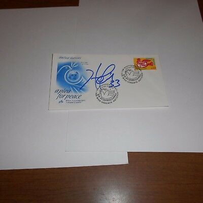 Hersey Hawkins 33 is a former NBA American basketball player Hand Signed FDC