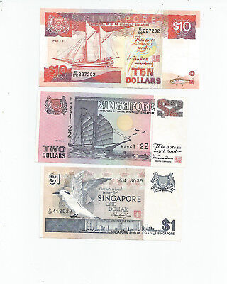 Singapore  Three  Notes