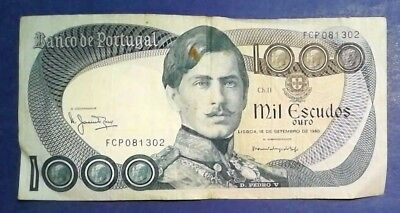 PORTUGAL: 1 x 1,000 Banknotes (1980) - Fine Condition