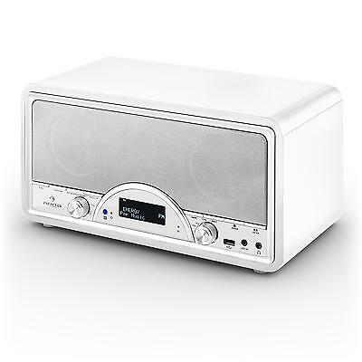 Neu: Auna Virginia Wh Dab Digitalradio Empfänger Bluetooth Usb Ukw Fm Mp3 Weiß