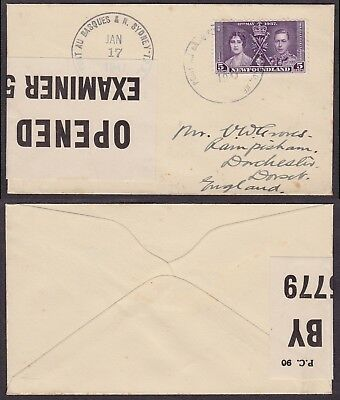 Newfoundland WWII 1944 - Cover to England - Censor 21957