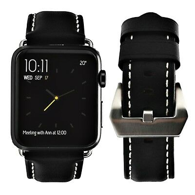 42mm For Apple Watch Band Genuine Leather Strap For iWatch Series 1 2 3 Bracelet