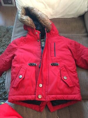 Red Next Boys Coat 12-18 Months