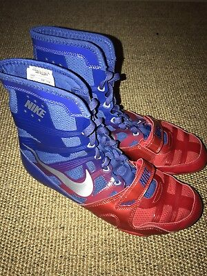 Nike Hyper Ko Boxing Boots - Blue/Red/Silver - 9.5UK