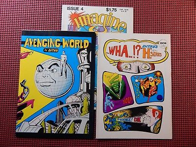 3 Steve Ditko Fanzines Avenging World, WHA..!? & Imagine #4