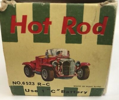 1960s Hong Kong Plastic Hot Rod Remote Control Car Battery Operated