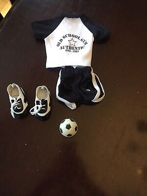 18 Inch Doll Soccer Outfit With ball
