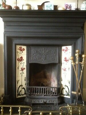 Cast Iron Victorian Reprodction Fireplace