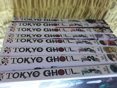 TOKYO GHOUL  BOOKS Volumes 1-8 COST £72 NEW