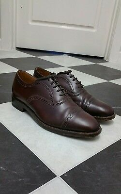 Stunning Men's Loake Brown Leather Oxford Brogue Shoes 7.5 UK Great Condition