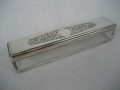 Antique Silver Plated Dressing Table Box