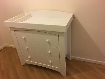 Mammas & Papas Chest Of Drawers baby changing unit, White
