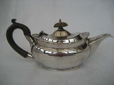 EDWARDIAN SOLID SILVER BACHELOR TEAPOT - Nathan & Hayes, Chester 1908