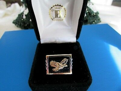 BRAFORD EXCHANGE Wings of Glory BALD EAGLE Men's Ring SS 925 $299 Value