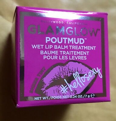 Glamglow Poutmud Wet Lip Balm Treatment Sheer Tint 'Hello Sexy' Brand New In Box
