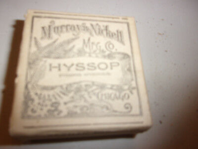 Antique/vintage Murray & Nickell Mfg Quack Medical Herb Box~Hyssop