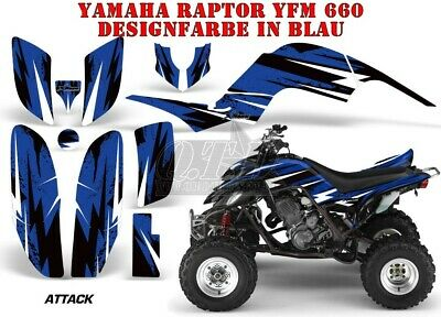 Amr Racing Dekor Graphic Kit Atv Yamaha Raptor Yfm 125/250/350/660/700 Attack B