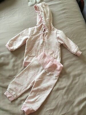 Beautiful Pink Baby Girl Hooded Tracksuit From H&M Age 4-6 Months