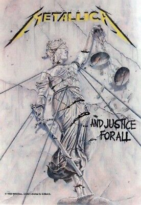 METALLICA 'And Justice for All' Textile Poster * Ideal Gift *